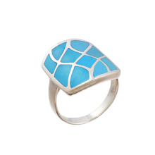 Turquoise Squared Shield Ring
