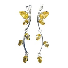 Citrine Long Dangle Earrings
