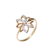 CZ Floral Ring. 585 (14K) Rose Gold