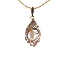 Estate Pearl Pendant with Diamonds