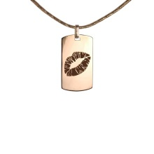 Rose Gold Pendant 'Lips'