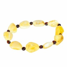 Milk Amber Stretch Bracelet