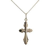 Silver Austère Orthodox Cross. Passion Cross