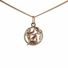 Twisted Wire Pendant 'Aquarius Zodiac'
