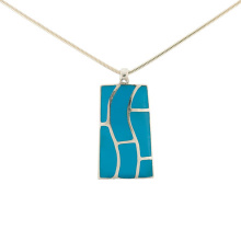 Turquoise Trapeze Silver Pendant