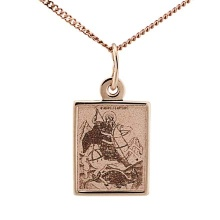 Icon Pendant 'The Holy George The Victorious'. 585 (14kt) Rose Gold