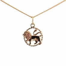 Twisted Wire Decor Pendant 'Leo Zodiac'