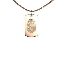 Fingerprint Monogram Pendant. 585 (14K) Hypoallergenic Rose Gold