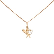 Diamond Cupid Pendant