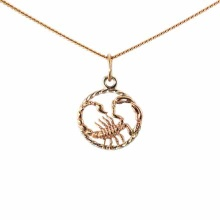Twisted Wire Decor Pendant 'Scorpio Zodiac'