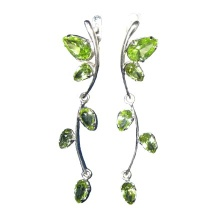 Peridot Long Dangle Earrings