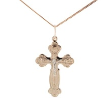 Orthodox Body Cross. Golden Body Crucifix