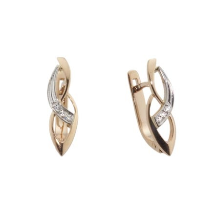 Rose and Palladium White Gold Infinity Earrings