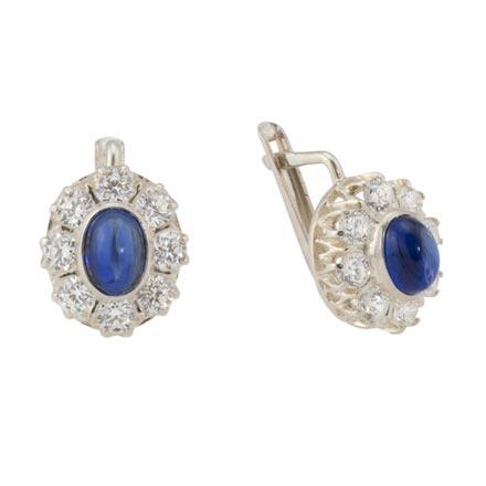 russian silver jewelry russian silver sapphire halo