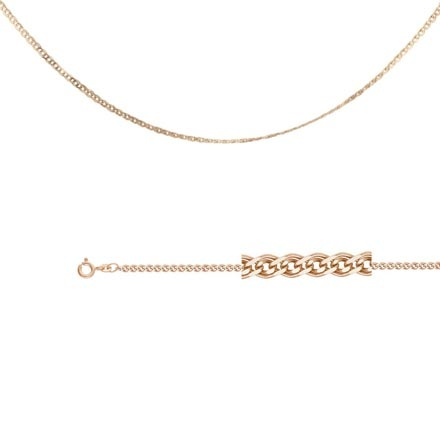 Nonna-link Chain (0.4 mm Gold Wire). Diamond Cut Solid Rose Gold