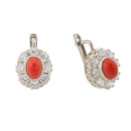 Halo Silver Earrings: A Coral