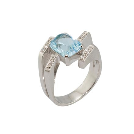 Closeout Jewelry | Blue topaz diamond ring in Brooklyn
