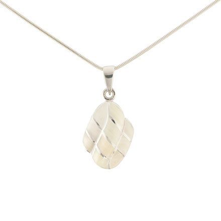 Turtle Shield Pattern Mother-of-Pearl Pendant