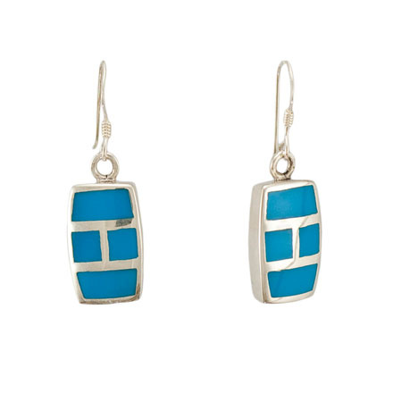 Turquoise Rectangular Earrings