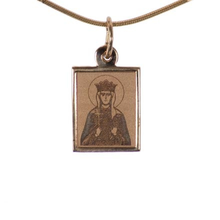 The Holy Empress Helena. Byzantine Style Gold Body Icon