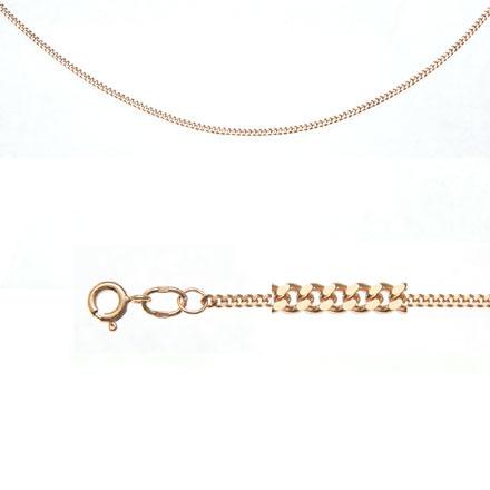 Solid rose gold chain