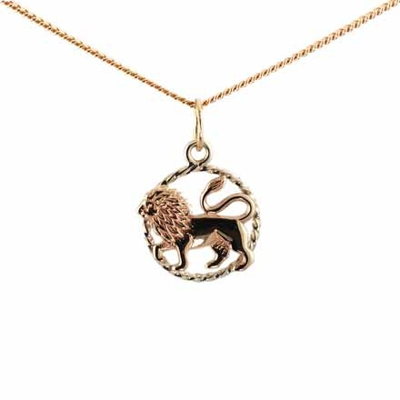 Twisted Wire Decor Pendant 'Leo Zodiac'. (July 23-August 22)