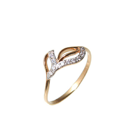CZ Russian Gold Ring