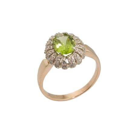 Peridot Russian Gold Ring