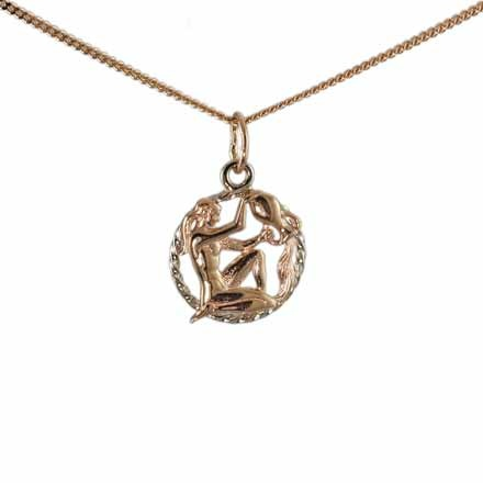 Twisted Wire Pendant 'Aquarius Zodiac'. (January 21-February 18)