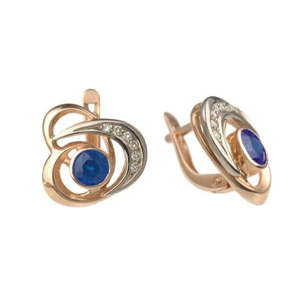 South Ural Blue Sapphire Earrings