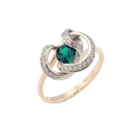 Faux emerald ring