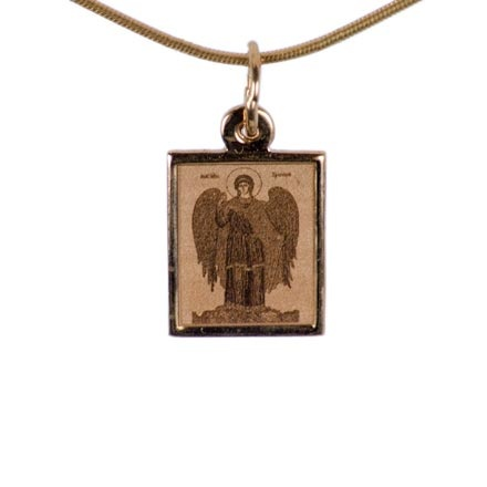 Your Holy Guardian Angel. Byzantine Style Gold Body Icon