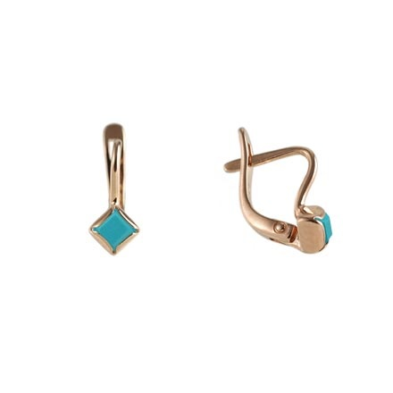 Turquoise Lever back Earrings