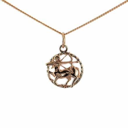 Twisted Wire Pendant 'Sagittarius Zodiac'. (November 23-December 21)