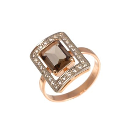 Rauh Topaz Ring With CZ