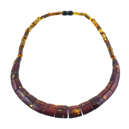 Cherry Amber Collar Necklace
