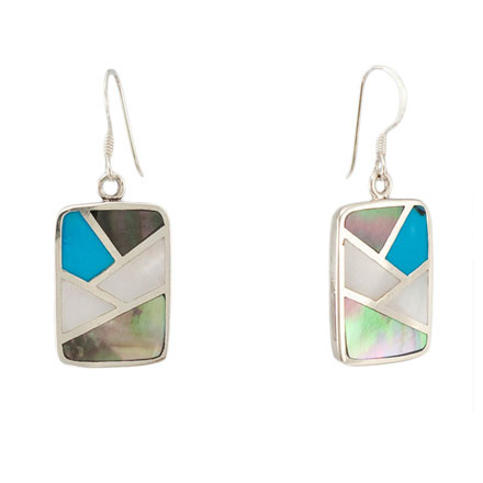 Turquoise & Mother-of-Pearl Earrings