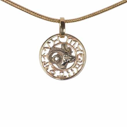 Aries Gold Pendant
