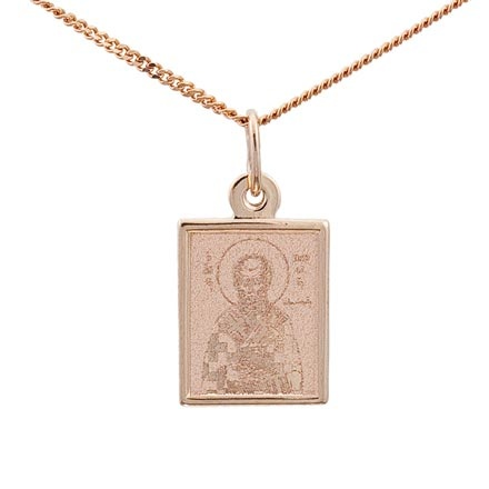 St. Nicholas the Wonderworker. Byzantine Style Gold Body Icon