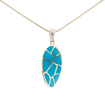 Turquoise Curved Pendant