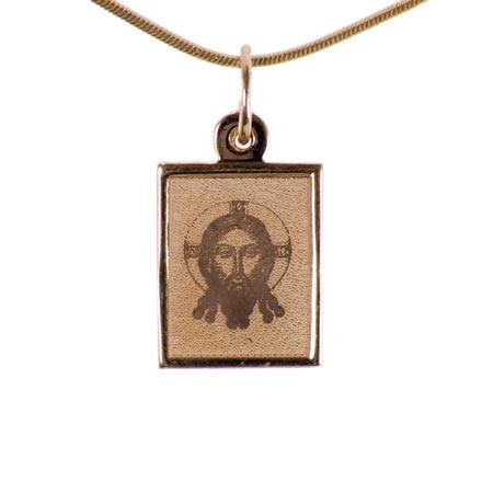 Byzantine Style Icon The Lord Jesus Christ. The Holy Mandylion-Spas Not Made By Hands
