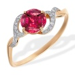 Ruby 'Flower of Life' and Diamond Ring. 585 (14kt) Rose Gold
