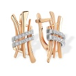 Diamond Stylized Hieroglyph 'Love' Earrings. 585 (14kt) Rose and White Gold