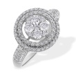 'Charisma' Diamond Cluster Engagement Ring. 585 (14kt) White Gold