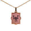 Laser-cut Rose Gold Pendant 'Scorpio Zodiac'. October 24-November 22