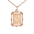 The Mother of God 'Seven Arrows' Icon Pendant. 585 (14kt) Rose Gold