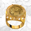 Open-Worked Coin Ring For Her