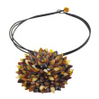 Amber Necklace With Whimsical Flower