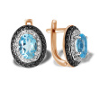 """Femme Fatale"" Blue Topaz Earrings"
