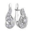 Diamond Teardrop-shaped Earrings. 585 (14kt) White Gold